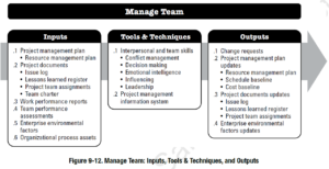 PMBOK Process: Manage Team