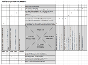 policy deployment matrix