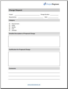 change request form