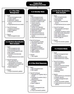 Risk Management process flow diagram