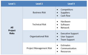 typical risk breakdown structure for software project