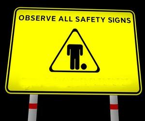Safety risk sign