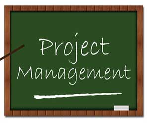 Blackboard that says Project Management