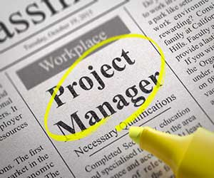 Newspaper ad for a project manager