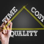 The project management triple constraint