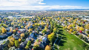 Neighborhood with park