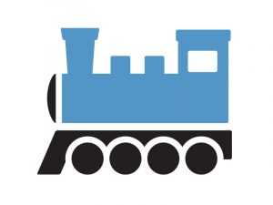 Value stream map icon - train shipment
